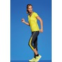Ladies' Running Tights 3/4 - zwart/zwart