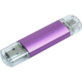 Aluminium On-the-Go (OTG) USB-stick - Magenta - 32 GB