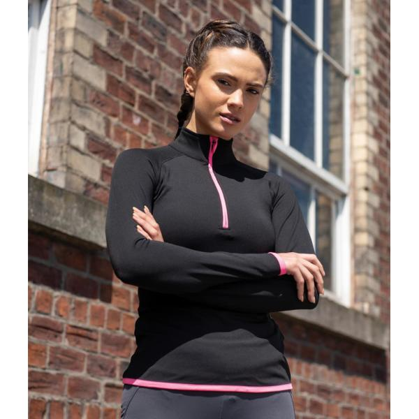 AWDis Ladies Cool Half Zip Sweat Top