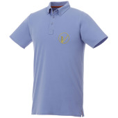 Atkinson button-down heren polo met korte mouwen - Lichtblauw - XXL