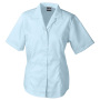 Ladies' Business Blouse Short-Sleeved lichtblauw