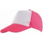 5-panel cap SHINY - pink, wit