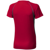 Quebec cool fit dames T-shirt korte mouwen - Rood,antraciet - XL