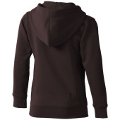 Arora kinder sweater met capuchon en volledige rits - Chocolate Brown - 116