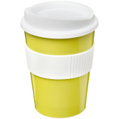 Americano® medio 300 ml beker met grip - Lime/Wit