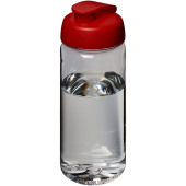 H2O Octave Tritan™ 600 ml sportfles met flipcapdeksel - Transparant/Rood