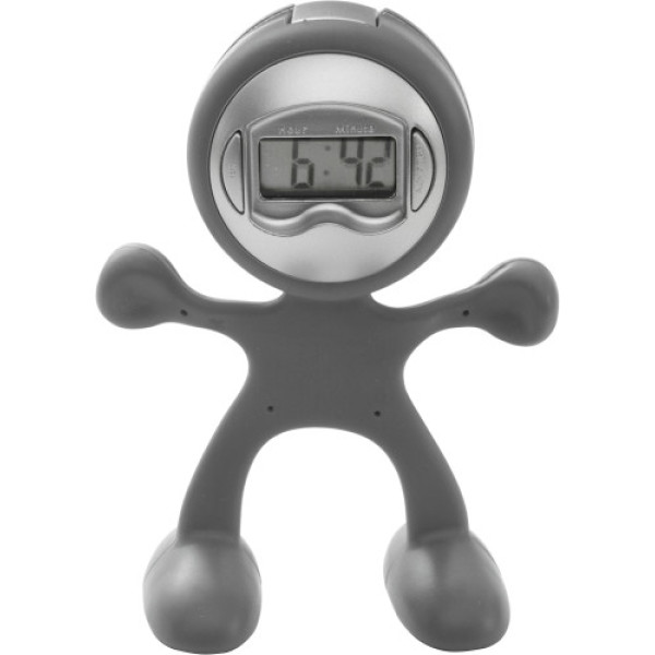 Sport-man clock with alarm