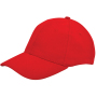 Brushed Twill Cap Rood acc. Rood
