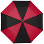 "21"" Spark 3-section duo tone umbrella - solid black,Red"
