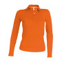 Damespolo lange mouwen orange 3xl