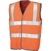 Safety hi-viz vest fluorescent orange xxl