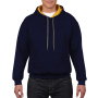 Gildan Sweater Hooded Contrast HeavyBlend navy/go M