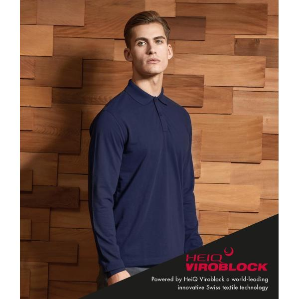 HeiQ Viroblock Unisex Long Sleeve Polo Shirt