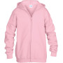 Heavy blend™classic fit youth full zip hooded sweatshirt light pink '3/4 (xs)