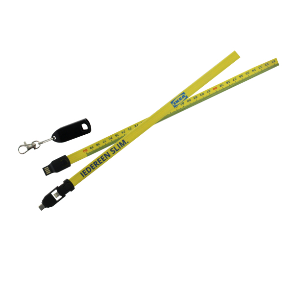 3 in 1 data/oplaad lanyard