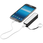 Jive powerbank 2000 mAh - Zwart/Wit