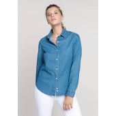 Damesblouse denim