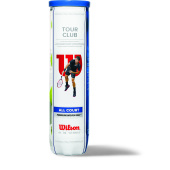 Wilson Tour Club Tennisballs in 4 Ball Tube