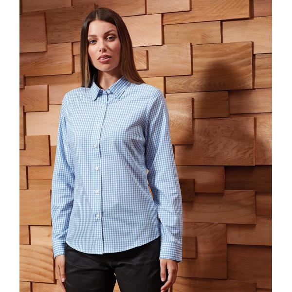 Ladies Maxton Check Long Sleeve Shirt