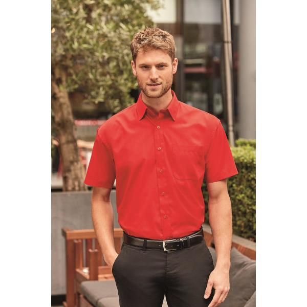Men's Shortsleeve Classic Polycotton Poplin Shirt