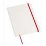 A5-notitieboekje AUTHOR - rood, wit