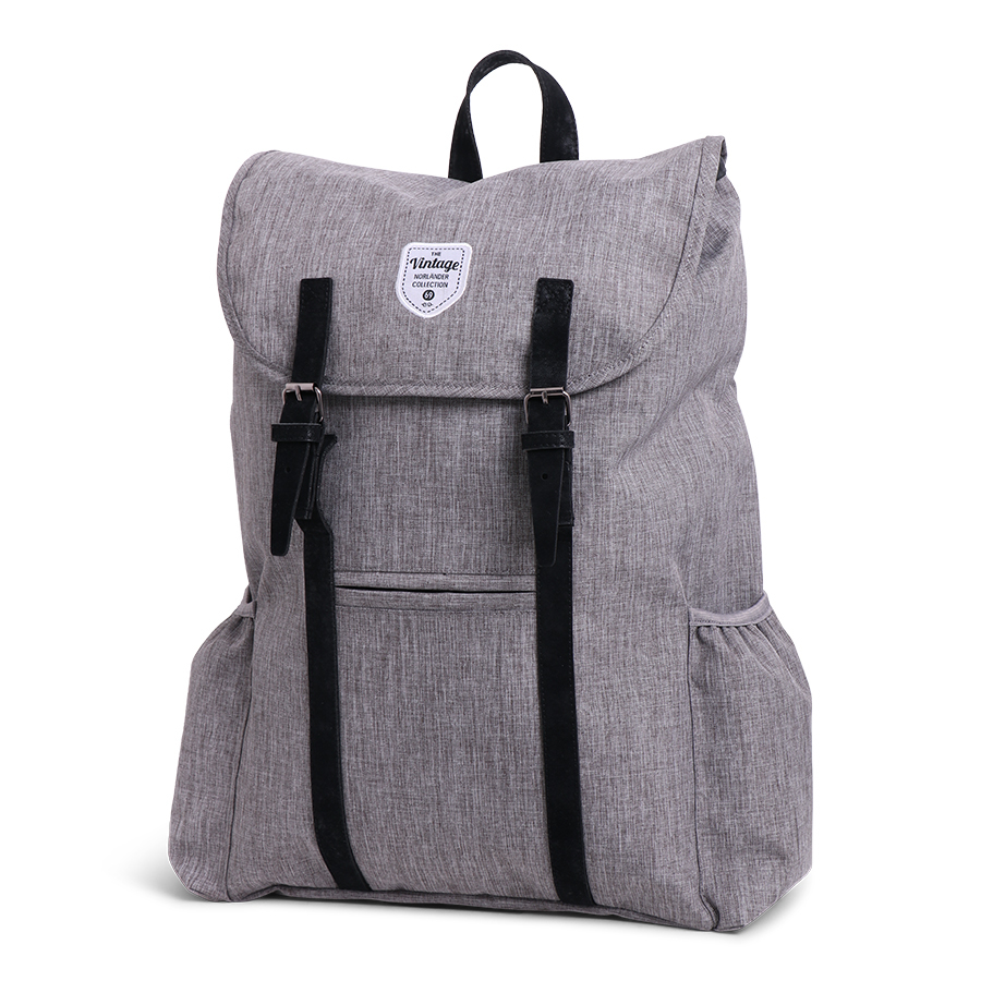 Vintage Twin Tone Backpack Adventurer Grey