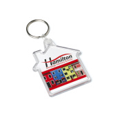 Acrylic House Keyfob 53x62mm doorzichtig