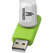 Rotate-doming USB 2GB - Lime/Zilver
