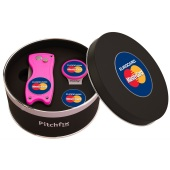 Pitchfix Cap Clip in Round tin with Pitchfix Hybrid and 1 extra Ballmarker