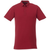 Atkinson button-down heren polo met korte mouwen - Rood - 3XL