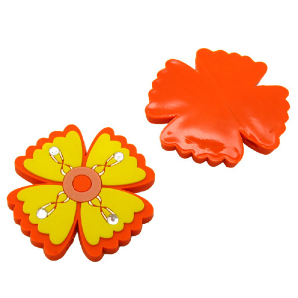 Bling-Bling Flower Soft PVC Earphoe Line Decorations