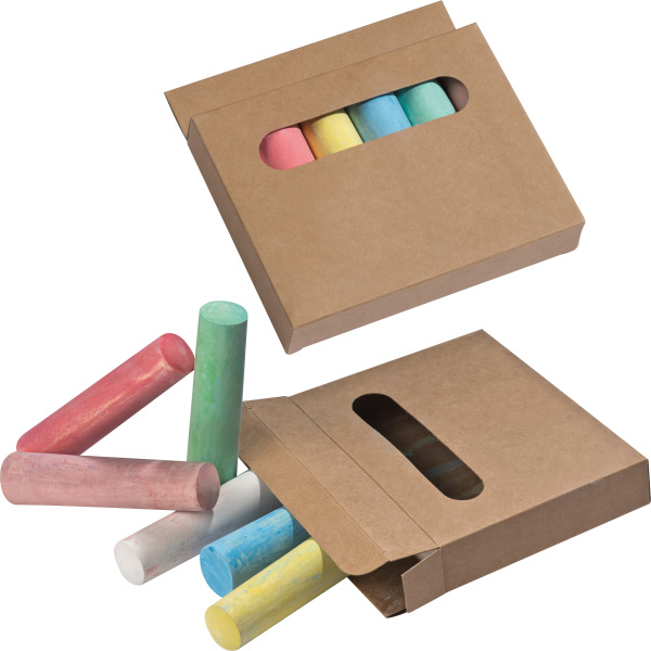 Chalks in box