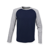 Mens Long Sleeved Baseball T