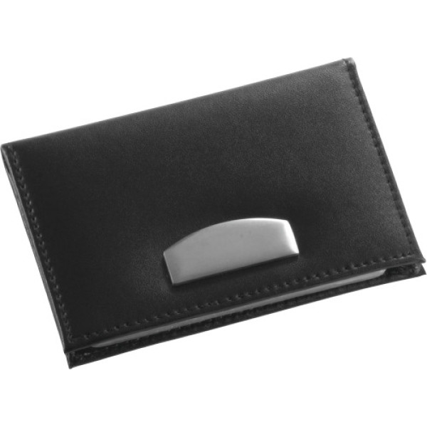 Bonded leather credit card holder
