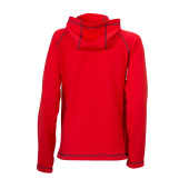 Ladies' Stretchfleece Jacket - rood/carbon