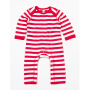 Baby Stripy Rompasuit 6-12 Monate Red/Washed White