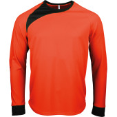 Keepershirt lange mouwen fluorescent orange / black m
