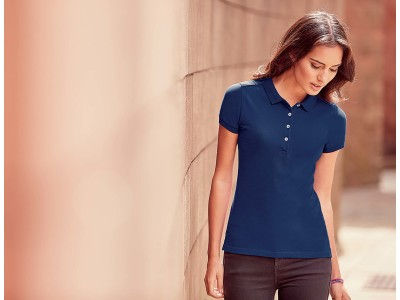 Ladies' stretch polo shirt