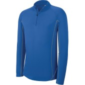 Herenrunningsweater met halsrits sporty royal blue xs