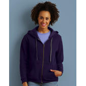 Vintage Ladies' Full Zip Hooded Sweat