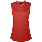 Damesbasketbalshirt sporty red m