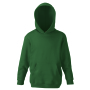 Kids Classic Hooded Sweat, Bottle Green, 5-6jr, FOL
