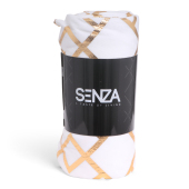 SENZA Pattern Blanket White/Gold