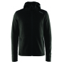 Craft Noble hood fleece men black mel. m