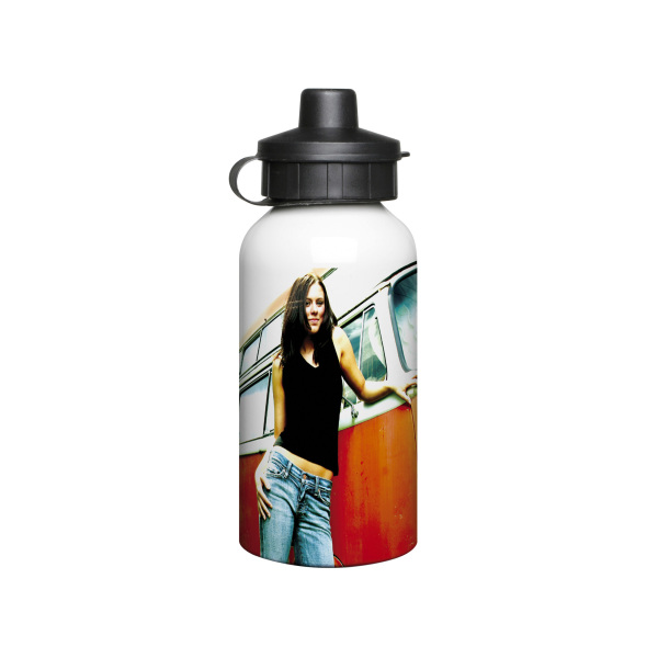 Aluminium 400ml White Drink Bottle