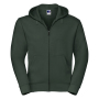 Authentic Zipped Hood, Bottle Green, XXL, RUS