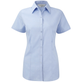 Ladies short sleeve herringbone shirt