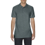 Gildan Polo Softstyle Double Pique SS for him Dark Heather 4XL