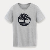 Biologisch t-shirt brand tree medium grey heather xxl
