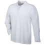 Polo Piqué Heavy Long-Sleeved wit